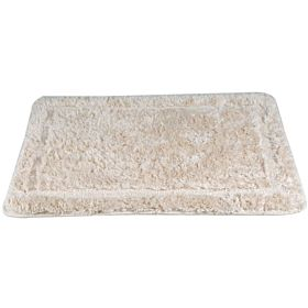 Cannon Acrylic Floor Bath Mat Plain Size 60x90 cm, Off White