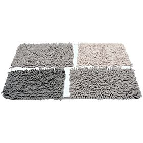 Homewell Plantation Bath Mat 70 X 50 Cm - Gray