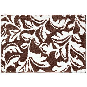 Style Shaggy Bath Mat 70 X 48 Cm - Dark Brown