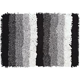 Homewell Ombre Bath Mat 70 X 50 Cm - Black