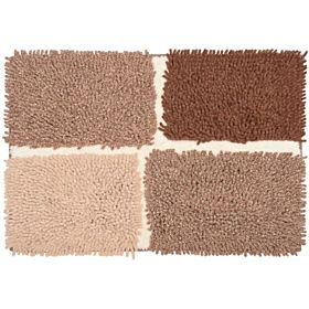 Homewell Plantation Bath Mat 70 X 50 Cm - Brown
