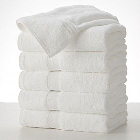 Set Of Bath Towels - 6 Pieces White