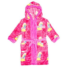 The Smurfs Princess Smurfette Kids Bathrobe - Pink