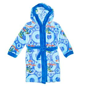 The Smurfs Kids Bathrobe - Blue
