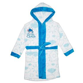 The Smurfs Kids Bathrobe - White & Blue