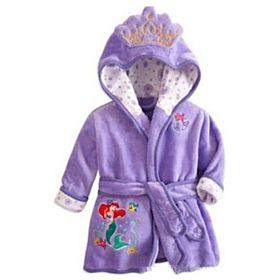 Purple Character Bathrobe - 120cm
