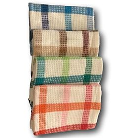 BTC Cotton Kitchen Towels - Multi Color, Set of 4