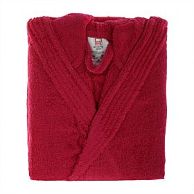 Home Box Cotton Nexus Kimono Bathrobe, Large - Red