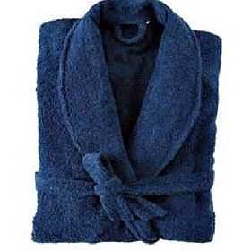 cotton bathrobes blue color