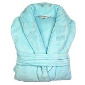 bathrobe cotton light blue