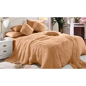 Comfy Luxe Faux Fur 6 Piece Blanket Comforter Set, King