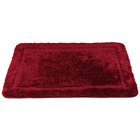 Cannon Acrylic Floor Bath Mat Plain Size 60x90 cm, Dark Red