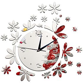 Love Pattern Diy Removable Wall Sticker Wall Clock