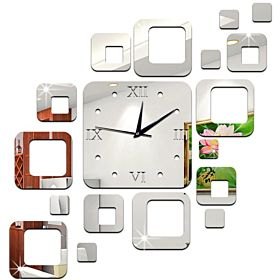 Personality Creative Flower Pattern Diy Removable Wall Clock