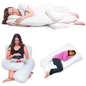 U Shape Comfortable Pregnancy & Maternity Pillow By Mother Comfort,Sky blue
