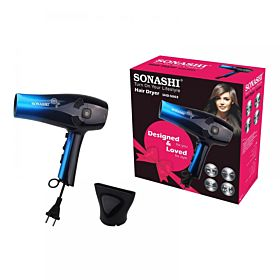 Sonashi SHD-5003 Hair Dryer with Retractable Cord - Blue Gradient
