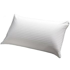 Comfy White Rich Cotton Pin Stripe 300 Thread Count Micro Fiber Pillow