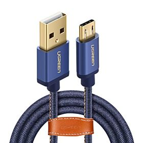UGREEN Micro USB Cable Denim Braided Jeans Fast Charger USB to Micro USB Data Android Cable for Samsung Galaxy S7 Edge, S6, S4,Note 5, LG G4, Tablets, Smartphone, PS4, Xbox One Controller - 2Meter