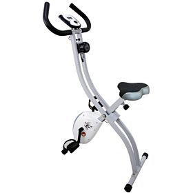 Marshal Fitness Fordable Exercise Bike with Adjustable Resistance for cardio Training and Strength Workout-Bxz-B70X