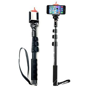 Extra Long Extendable Selfie Stick Monopod with Wireless remote & Mount Adapter for iPhone & GoPro