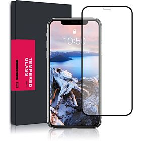 5D Tempered Glass Screen Protector for iPhone X,Meidom iphone x screen protector - Black