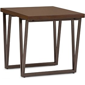 Simpli Home Ryder Solid Wood End Table, Aged Brown