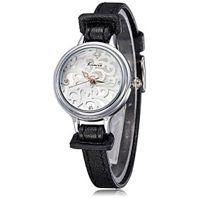 Kimio Casual Analog Leather Watch For Women Black - KW215