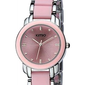 KIMIO Casual Watch For Women Stainless Steel Pink - K455L