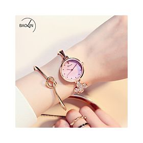 Kimio Dress Watch For Women Analog Metal Pink- 6212