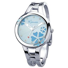 KIMIO Ladies Stainless Band Watch Blue