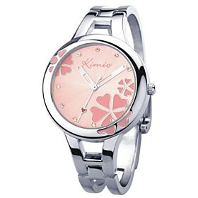 KIMIO Ladies Stainless Band Watch Pink