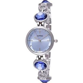 Kimio Women's Blue Dial Stainless Steel Band Watch - K465L-S0606