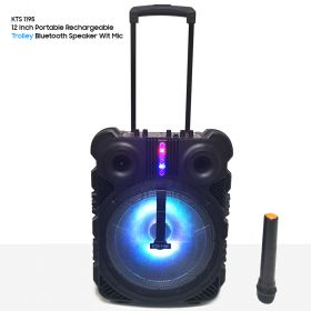 KTS 1195 Portable Rechargeable Trolley Bluetooth Speaker Wit Mic BLUETOOTH | KARAOKE | FM RADIO | SD CARD | USB FLASH