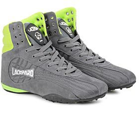 Lackpard Grey & Neon Green Fashion Sneakers For Men