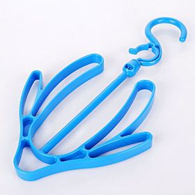 shoe Hanger Hanging shoe Organizer Multi-Purpose Hangers for shoes, Belt Racks and tie Racks blue