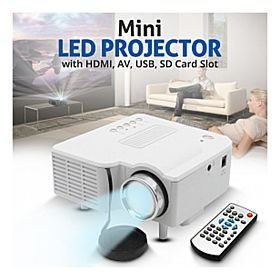 BSNL Entertainment Mini LED Projector, With HDMI, AV, USB, SD Card Slot, Color Black & White