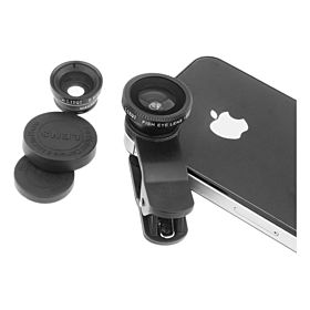 Clip Lens for Smartphones & Tablets [Fish eye, Marco, Wide angle]