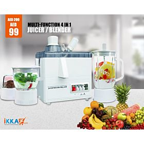 M-Star Multi-function 4 in 1 MS-J176P(Juicer / Blender / Grinder / Dry Mill)