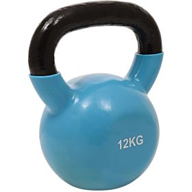 Marshal Fitness 12 Kg Kettle Bell Dumbbell, Blue