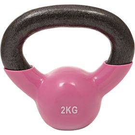 Marshal Fitness 2 Kg Kettle Bell Dumbbell, Pink