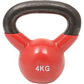 Marshal Fitness 4 Kg Kettle Bell Dumbbell, Red