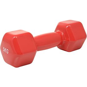 Marshal Fitness 5 Kg Yoga Dumbbell, Red