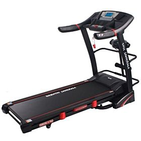 Marshal Fitness Digital Treadmill with Auto Incline and Air Cushion Shock Absorption System-2050-4 Black