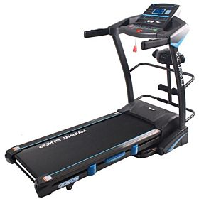 Marshal Fitness Home Use Hi Performance Treadmill With Air Cushion Shock Absorption System-2030-4-Black