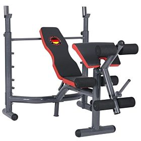 Marshal Fitness Weight Lifting Bench with Preacher Curl Leg Developer Adjustable for Olympic Workout -MfDS-620A