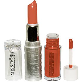 Miss Rose Moisturizing and Glam Lip Gloss and Lip Stick - Chic [MS19]