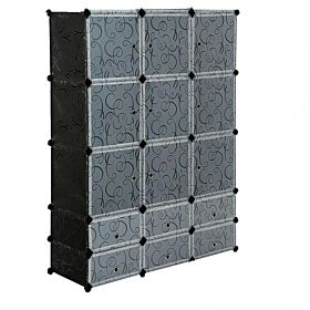 Plastic Wardrobe Organizer,cartoon Design 9 Cubes.6 Shoe Racks
