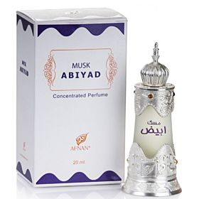 Musk Abiyad Attar by Afnan Concentrate Oil For Unisex, 20ml