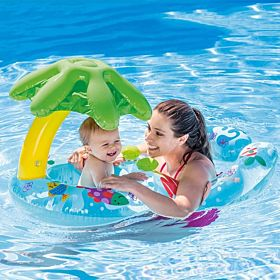 Intex Swimming Pool with Canopy, Inflatable  Baby Parent (Blue)