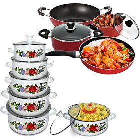 Non-Stick Cookware Set and Casseroleset Combo